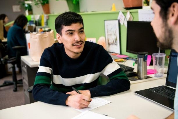 Luis grew up in Elyria-Swansea, has graduated high school, and dreams of a career in the music industry. He knew that in order to pursue his dreams he needed reliable transportation and a stable income. Focus Points referred Luis to an opportunity at the Growhaus, a partner organization just 2 blocks from where Luis grew upand helped him with his application. Now Luis works on increasing food security in this community while planning for his future. Each year, Focus Points helps 140 people like Luis take the next step towards a sustainable income.